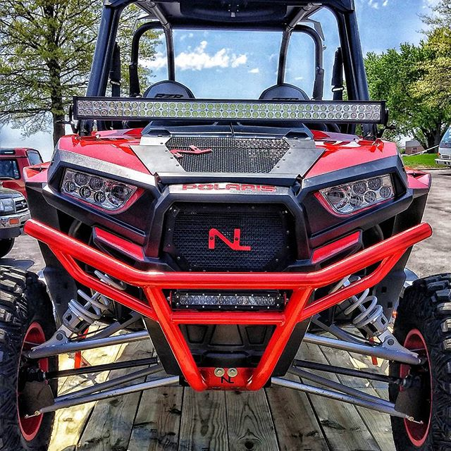 Polaris Indy Red LED bumper by No Limit Wheels.